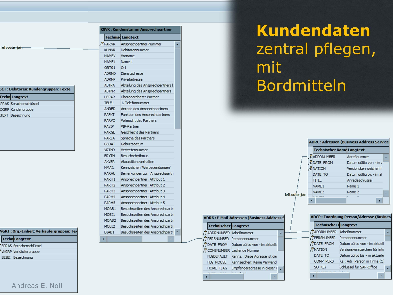 Durchgängige Pflege von Daten Ihrer Bestandskunden in SAP ist möglich, Auslesen ist einfach