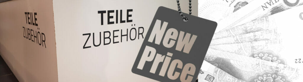 Projektmanagement für neue Ersatzteil-Preise