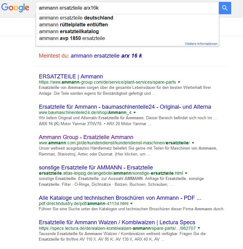 google suche homepage fuer den after sales optimiert, der erste Schritt zu mehr After Sales