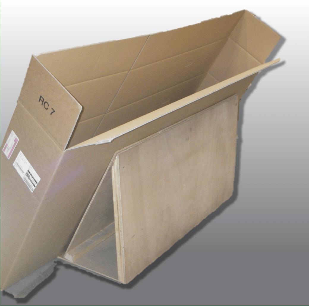 Vorrichtung um Glasscheiben als Ersatzteil sicher zu verpacken no-stop.de