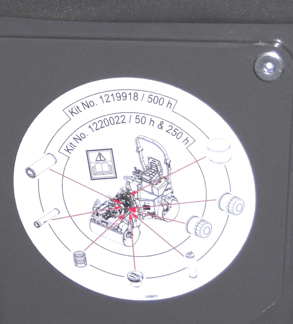 Werbung an der Maschine für mehrere Ersatzteile auf einem Aufkleber helfen bei wettbewerbsintensiven Service-Teilen
