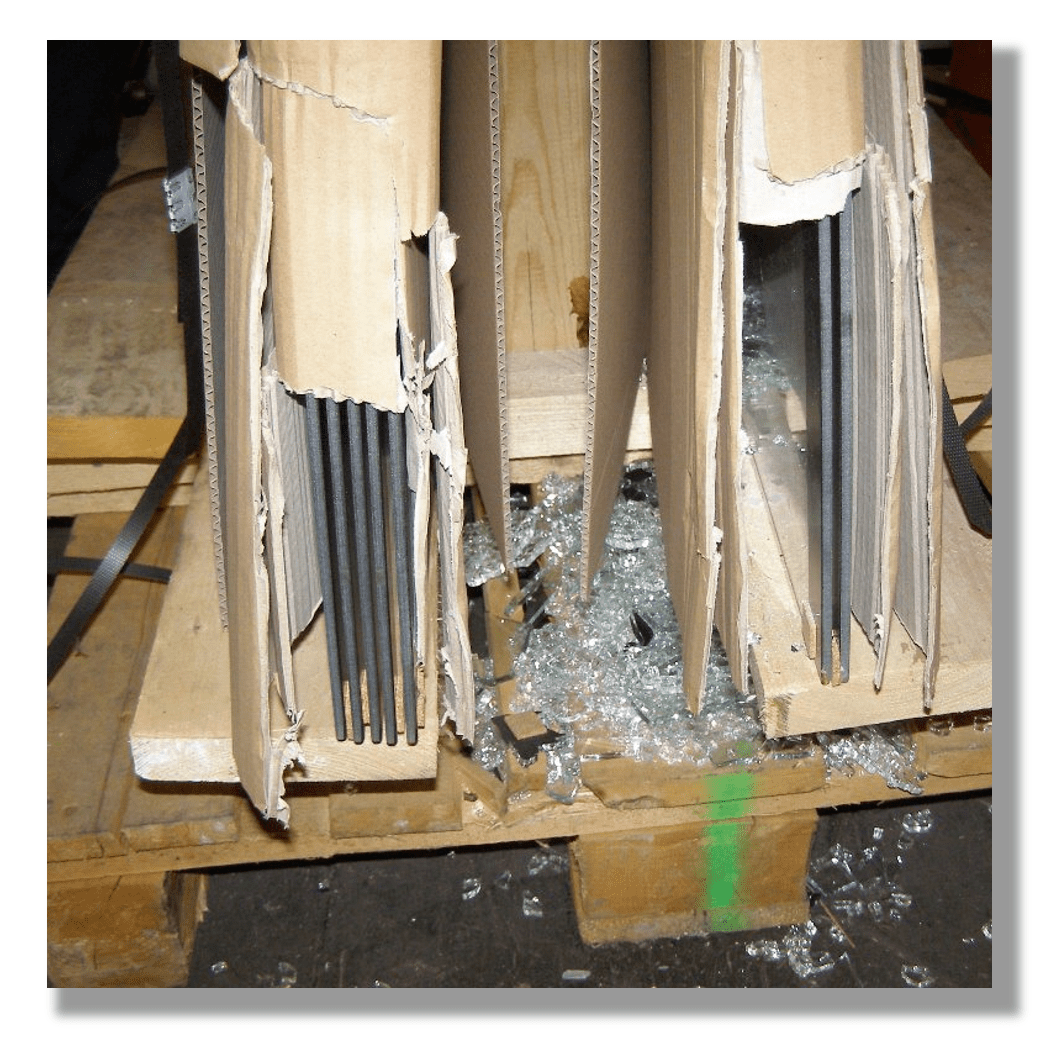 Glasbruch in der ersten Lieferstufe des Ersatzteilgeschäfts