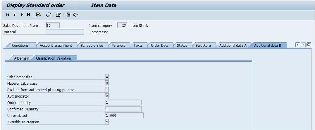 Verfügbarkeit eines Ersatzteils zum Zeitpunkt der Auftragserfassung messen