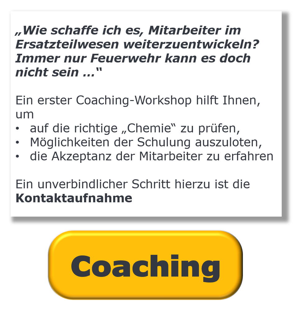 Coaching zur Kundenbindung im Ersatzteilwesen