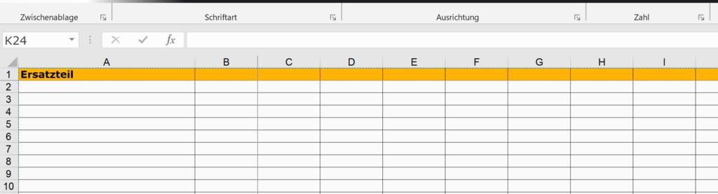 Excel im Ersatzteilmanagement einsetzen