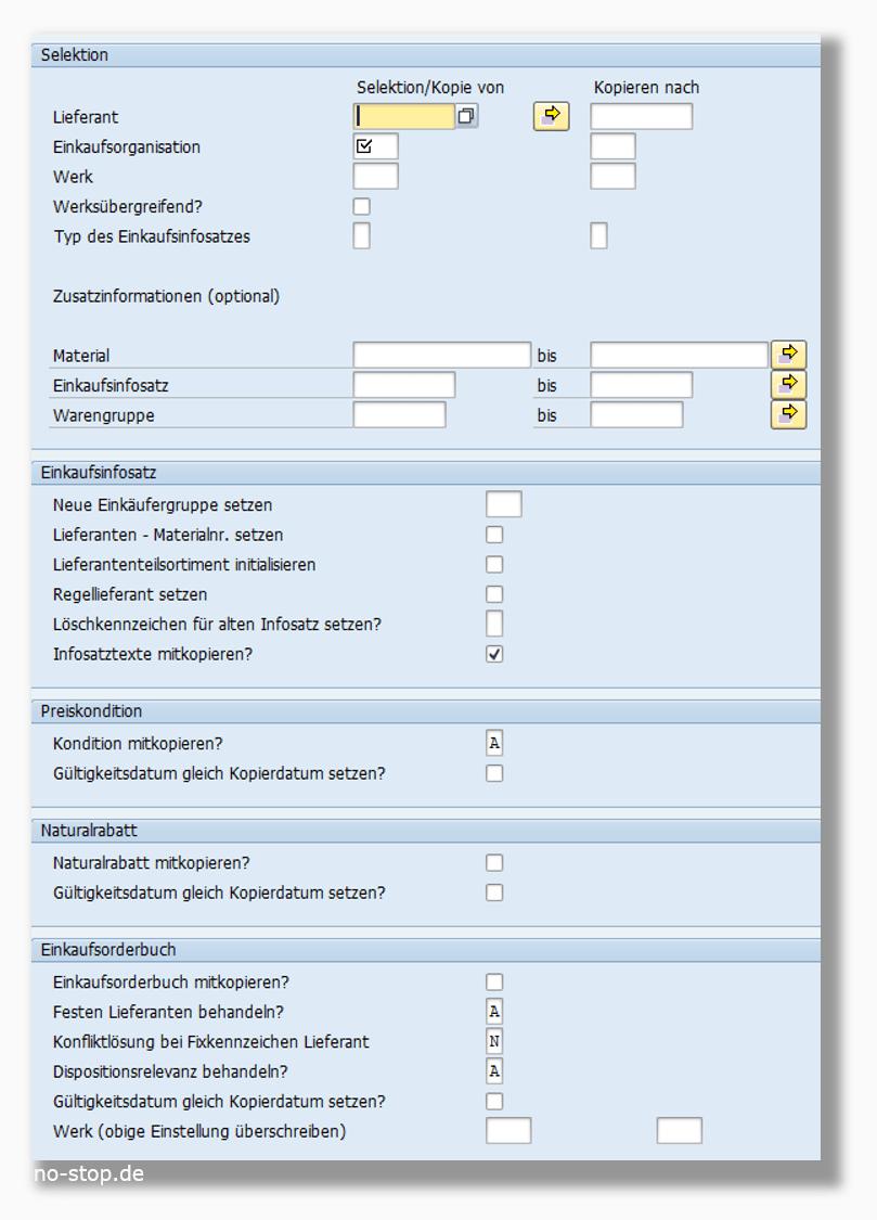 Migrationstools, hier von SAP, helfen bei der Stammdaten-Aufbereitung. In diesem Fall werden Einkaufsdaten von einer Einkaufsorganisation in eine andere kopiert