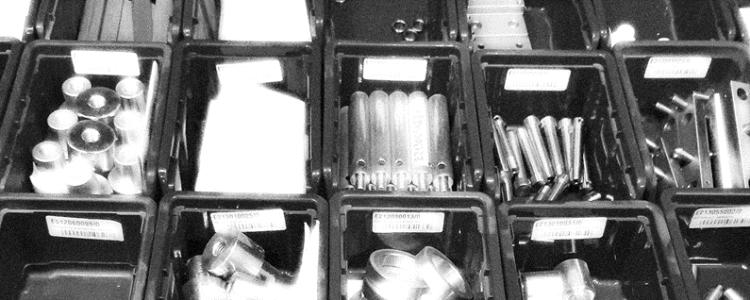 Kleinteilelager für Ersatzteile auslegen