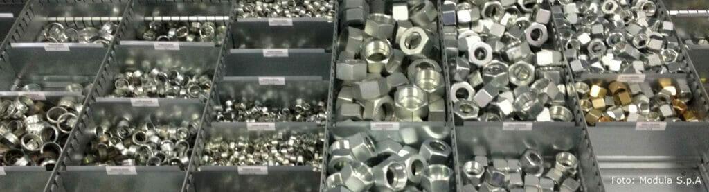 Lagerlift automatisiert Kleinteilelager für Ersatzteile