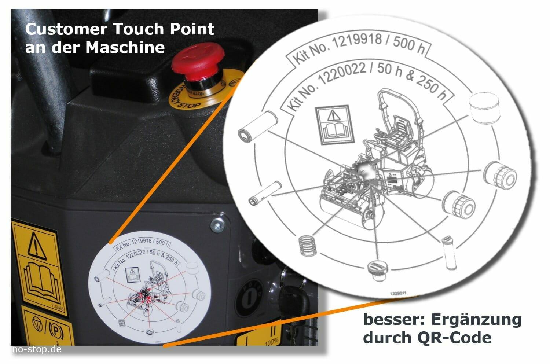 Customer Touch Point an der Maschine