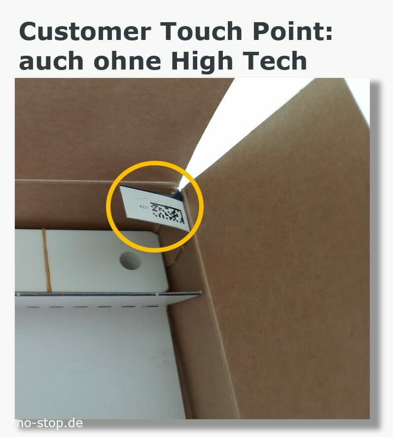 Customer Touch Point in der Verpackung